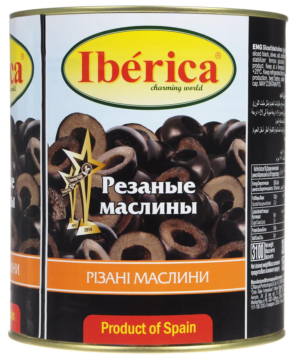 Iberica маслины резаные, 3 кг оливки чёрные pikarome резаные в рассоле 4 2 кг