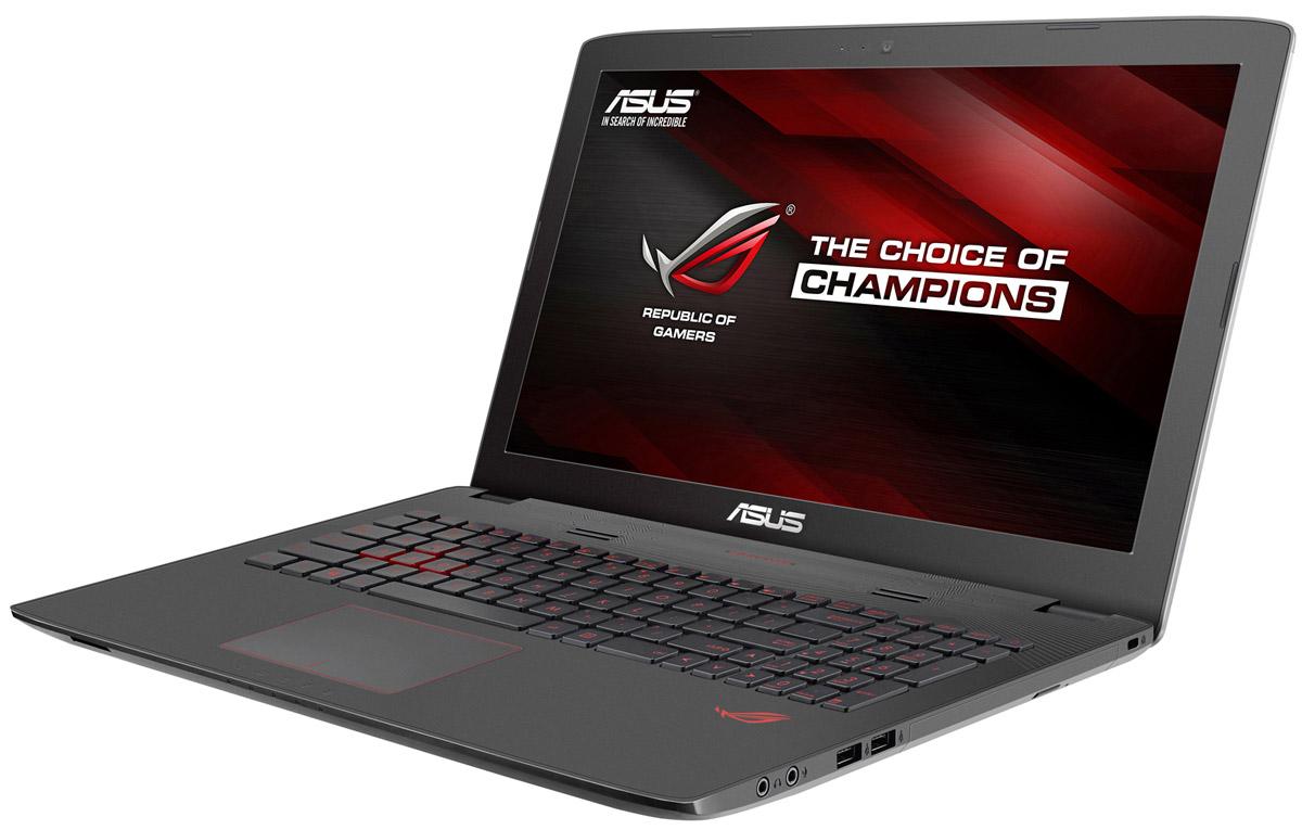 ASUS ROG GL752VW (GL752VW-T4234T)GL752VW-T4234TМаксимальная скорость, оригинальный дизайн, великолепное изображение и возможность апгрейдаконфигурации - встречайте геймерский ноутбук Asus ROG GL752VW.В компактном корпусе скрывается мощная конфигурация, включающая операционную систему процессор IntelCore и дискретную видеокарту NVIDIA GeForce. Ноутбук также оснащается интерфейсом USB 3.1 в видеудобного обратимого разъема Type-C.Клавиатура ноутбуков серии GL752 оптимизирована специально для геймеров. Прочная и эргономичная, этаклавиатура оснащается подсветкой красного цвета, которая позволит с комфортом играть даже ночью.Для хранения файлов в GL752 имеется жесткий диск емкостью до 2 ТБ. Кроме того, в эту модель можетустанавливаться опциональный твердотельный накопитель с интерфейсом M.2 и емкостью до 256 ГБ.Функция GameFirst III позволяет установить приоритет использования интернет-канала для разных приложений.Получив максимальный приоритет, онлайн-игры будут работать максимально быстро, без раздражающихлагов, и другие онлайн-приложения, имеющие низкий приоритет, не будут им в этом мешать.Asus ROG GL752VW оснащается 17,3-дюймовым IPS-дисплеем формата Full-HD, чье матовое покрытиеминимизирует раздражающие блики, а широкие углы обзора (178°) являются залогом точной цветопередачи.Реализованная в модели GL752 аудиосистема с эксклюзивной технологией ASUS SonicMaster выдаетвеликолепный звук, а программное обеспечение ROG AudioWizard позволяет быстро и легко подстраиватьоттенки звучания под конкретную игру, активируя один из пяти предустановленных режимов.Точные характеристики зависят от модификации.Ноутбук сертифицирован Ростест и имеет русифицированную клавиатуру и Руководство пользователя.
