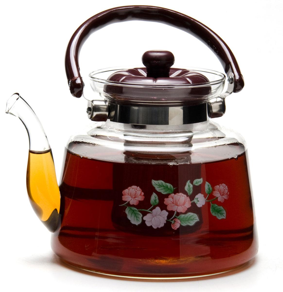Чайник заварочный Mayer & Boch, 1,8 л. 2078220782Заварочный чайник, выполненный из жаропрочного стекла, практичный и простой в использовании. Ручка и крышка заварочного чайника изготовлены из пластика черного цвета, что обеспечивает дополнительную защиту от ожогов. Чайник оснащен сетчатым фильтром из нержавеющей стали, что позволяет задерживать чаинки и предотвращать их попадание в чашку, а прозрачные стенки дадут возможность наблюдать за насыщением напитка.Объем чайника: 1,8 л.