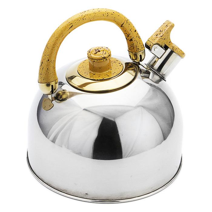 Чайник Mayer & Boch, 3,5 л. 10691069АПодходит для всех типов плит.Чайник выполнен из высококачественной нержавеющей стали 18/10. Капсулированное дно с прослойкой из алюминия обеспечивает наилучшее распределение тепла. Носик чайника оснащен насадкой-свистком, что позволит вам контролировать процесс подогрева или кипячения воды. Подвижная ручка чайника изготовлена из бакелита. Чайник подходит для использования на всех типах плит. Чайник выполнен с золотистыми элементами, эстетичный с эксклюзивным дизайном, чайник будет оригинально смотреться в любом интерьере. Можно мыть в посудомоечной машине.Дно: капсулированное.Объем: 3,5 л.
