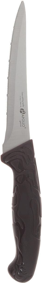 Нож для нарезки Apollo King, длина лезвия 11,5 смKNG-04Нож для нарезки Apollo King изготовлен из высококачественной нержавеющей стали. Очень удобная иэргономичная рукоятка, изготовленная из пластика, не позволит скользить ножу в руках и обеспечитбезопасность при нарезке продуктов. Нож предназначен для нарезки филе, фруктов и других продуктов.Такой нож займет достойное место среди аксессуаров на вашей кухне.Не рекомендуется мыть в посудомоечной машине.Длина ножа: 23 см.Толщина лезвия: 1 мм.