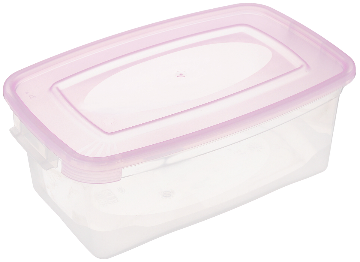 Контейнер Полимербыт Каскад, цвет: прозрачный, розовый, 1 лС570_розовыйКонтейнер Полимербыт Каскад прямоугольной формы, изготовленный из прочного пластика, предназначен специально для хранения пищевых продуктов. Крышка легко открывается и плотно закрывается.Контейнер устойчив к воздействию масел и жиров, легко моется. Прозрачные стенки позволяют видеть содержимое. Контейнер имеет возможность хранения продуктов глубокой заморозки, обладает высокой прочностью.Подходит для использования в микроволновых печах. Можно мыть в посудомоечной машине.
