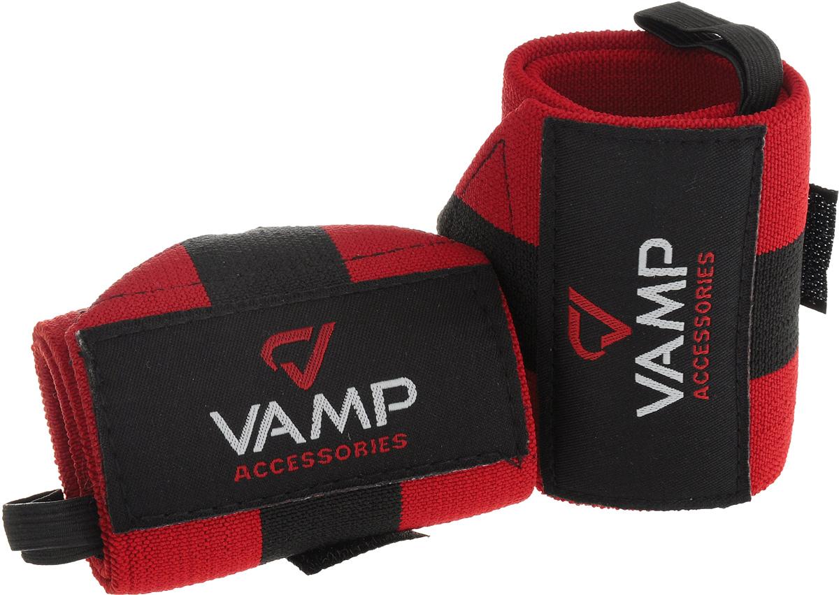 Бинт гимнастический Vamp, 2 шт. Размер MV-379Гимнастические бинты Vamp предназначены для защиты кистей во время интенсивных тренировок. Выполнены они из прочной и эластичной ткани, не вызывают раздражений кожи и не препятствуют нормальному кровотоку. Застежка на липучке надежно фиксирует бинт, изделие не скользит и не мешает в ходе тренировки.Комплектация: 2 шт.