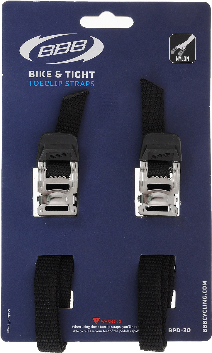 Стрепы для педалей BBB Bike & Tight Black, 2 шт