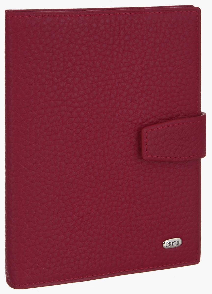 Обложка для паспорта и автодокументов Petek 1855, цвет: красный. 595.46BD.10Натуральная кожаОбложка для паспорта и автодокументов Petek 1855 выполнена из натуральной кожи с фактурным тиснением. Внутри имеет отделение для паспорта, два боковых сетчатых кармана и съемный блок из шести прозрачных файлов из мягкого пластика, один из которых формата А5. Обложка закрывается на хлястик с кнопкой.Обложка упакована в фирменную коробку.Изделие сочетает в себе классический дизайн и функциональность. Обложка не только поможет сохранить внешний вид ваших документов и защитит их от повреждений, но и станет стильным аксессуаром, который подчеркнет ваш неповторимый стиль.