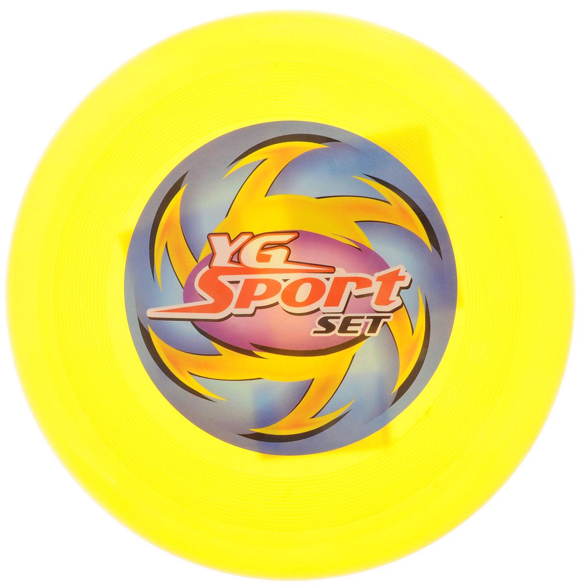 YG Sport Летающий диск цвет желтый yg sport игровой набор лови бросай