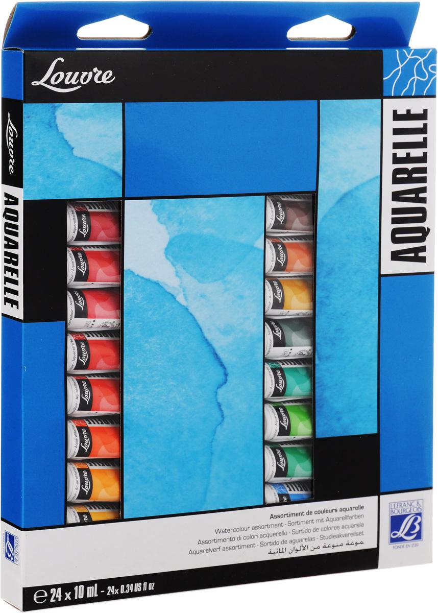 Набор акварельных красок Lefranc & Bourgeois Louvre, 10 мл, 24 штLF806913Набор Lefranc & Bourgeois Louvre состоит из 24 тюбиков акварельной краски разных цветов.Акварель - тонкое взаимодействие цвета и воды. Используется для наложения различных цветов.
