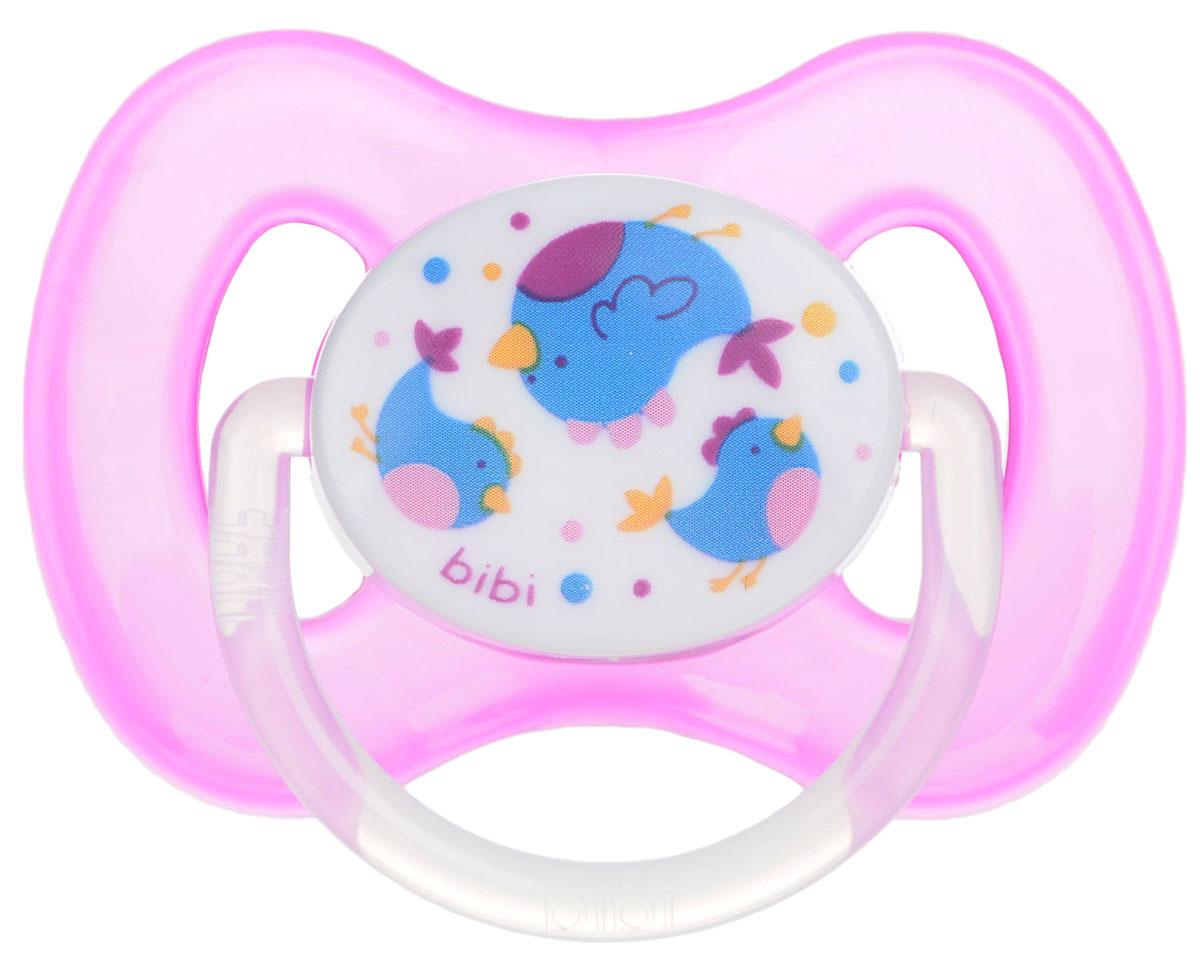 Bibi Пустышка силиконовая Птички от 6 до 16 месяцев двигательная дисфункция нижней челюсти