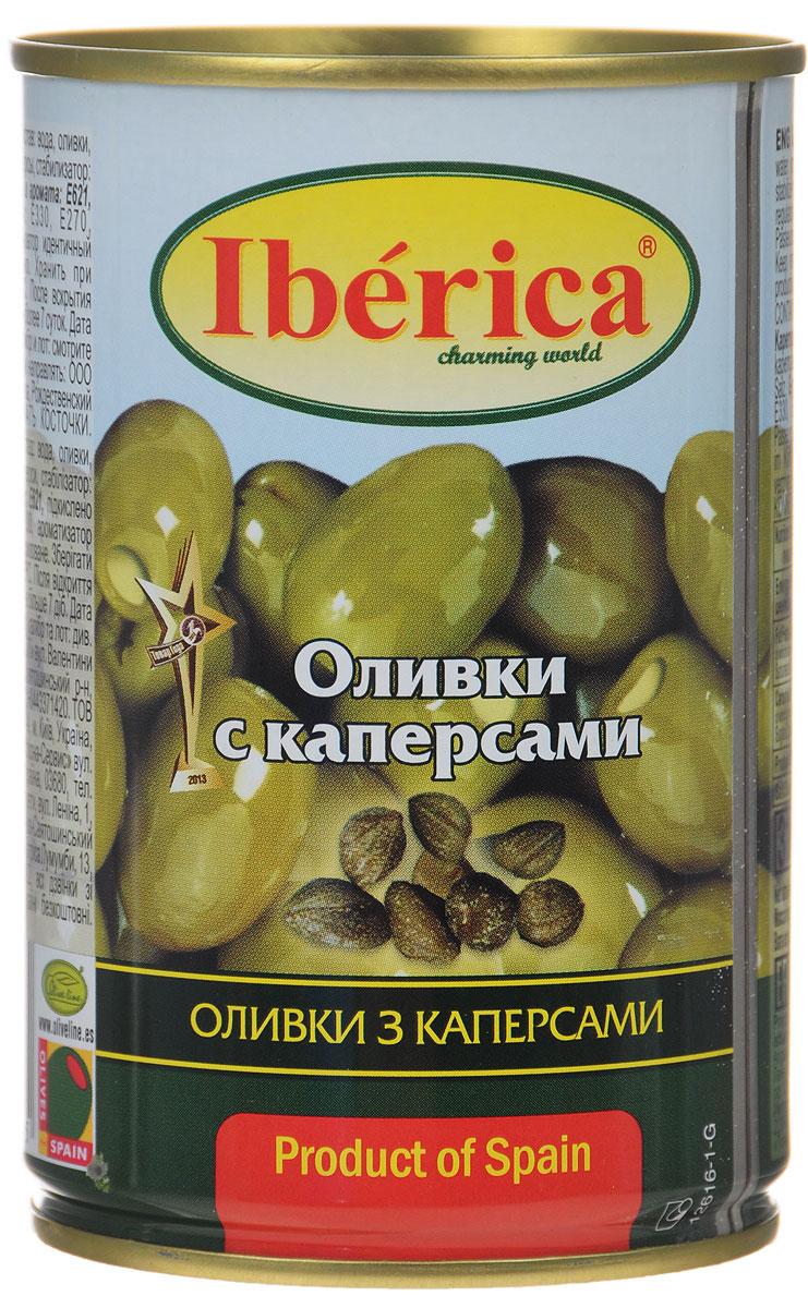 Iberica оливки с каперсам, 300 г0710099Превосходные оливки Iberica с каперсам. Оливки и маслины Iberica - давно знакомый потребителям бренд, один из лидеров в данной категории продуктов.