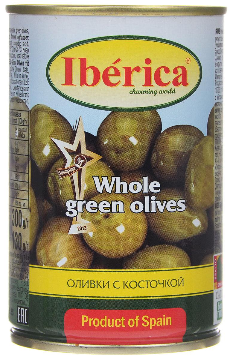 Iberica оливки с косточкой, 300 г ideal маслины с косточкой extra class 300 г