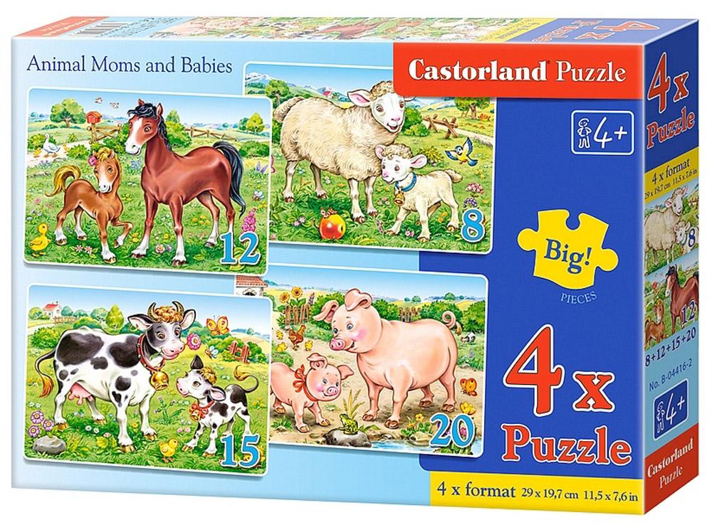 Castorland Пазл Домашние животные 4 в 1, Castorland Puzzle