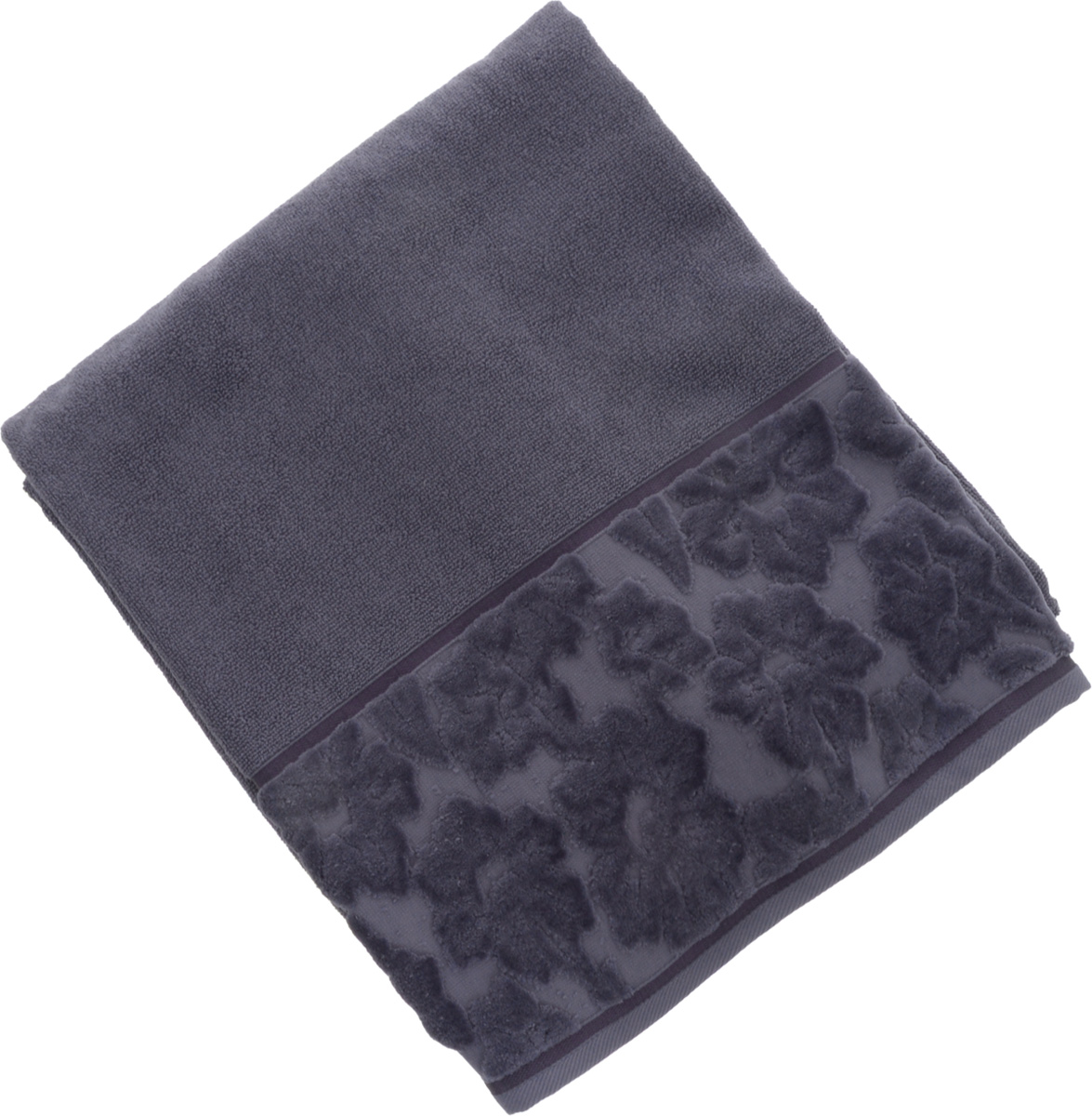Полотенце махровое Issimo Home Jacquelyn, цвет: индиго, 70 x 140 см полотенце бамбуковое issimo home valencia цвет розовый 90 x 150 см