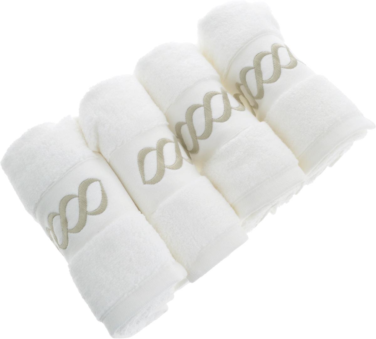 Набор махровых полотенец Issimo Home Pauline, цвет: белый, бежевый, 30 x 50 см, 4 шт4743Набор полотенец Issimo Home Pauline выполнен из натуральной махровой ткани (100% хлопок). Изделия отлично впитывают влагу, быстро сохнут и не теряют форму даже после многократных стирок. Рекомендации по уходу:- режим стирки при 40°C,- допускается обычная химчистка,- отбеливание запрещено,- глажка при температуре подошвы утюга до 110°С,- барабанный отжим запрещен.Размер полотенца: 30 x 50 см.