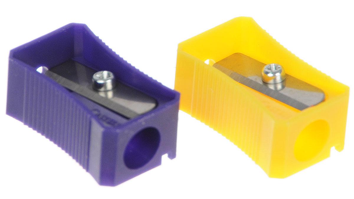 Faber-Castell Точилка цвет фиолетовый желтый 2 шт263221_фиолетовый, желтыйТочилка Faber-Castell предназначена для затачивания классических простых ицветных карандашей.В наборе две точилки из прочного пластика зеленого ирозового цветов с рифленой областью захвата. Острые лезвия обеспечиваютвысококачественную и точную заточку деревянных карандашей.