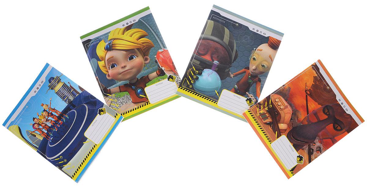 Action! Набор тетрадей Алиса 48 листов в клетку 4 штAZ-AN 4801/5_набор 2Набор тетрадей Action! Алиса идеально подойдет для школьных занятий. Обложка, выполненная из плотного картона, позволит сохранить тетрадь в аккуратном состоянии на протяжении всего времени использования. Обложка тетради оформлена красочным изображением героев мультфильма Алиса знает, что делать!. Внутренний блок на скрепке состоит из 48 листов белой бумаги в голубую клетку с полями.В комплекте 4 тетради.