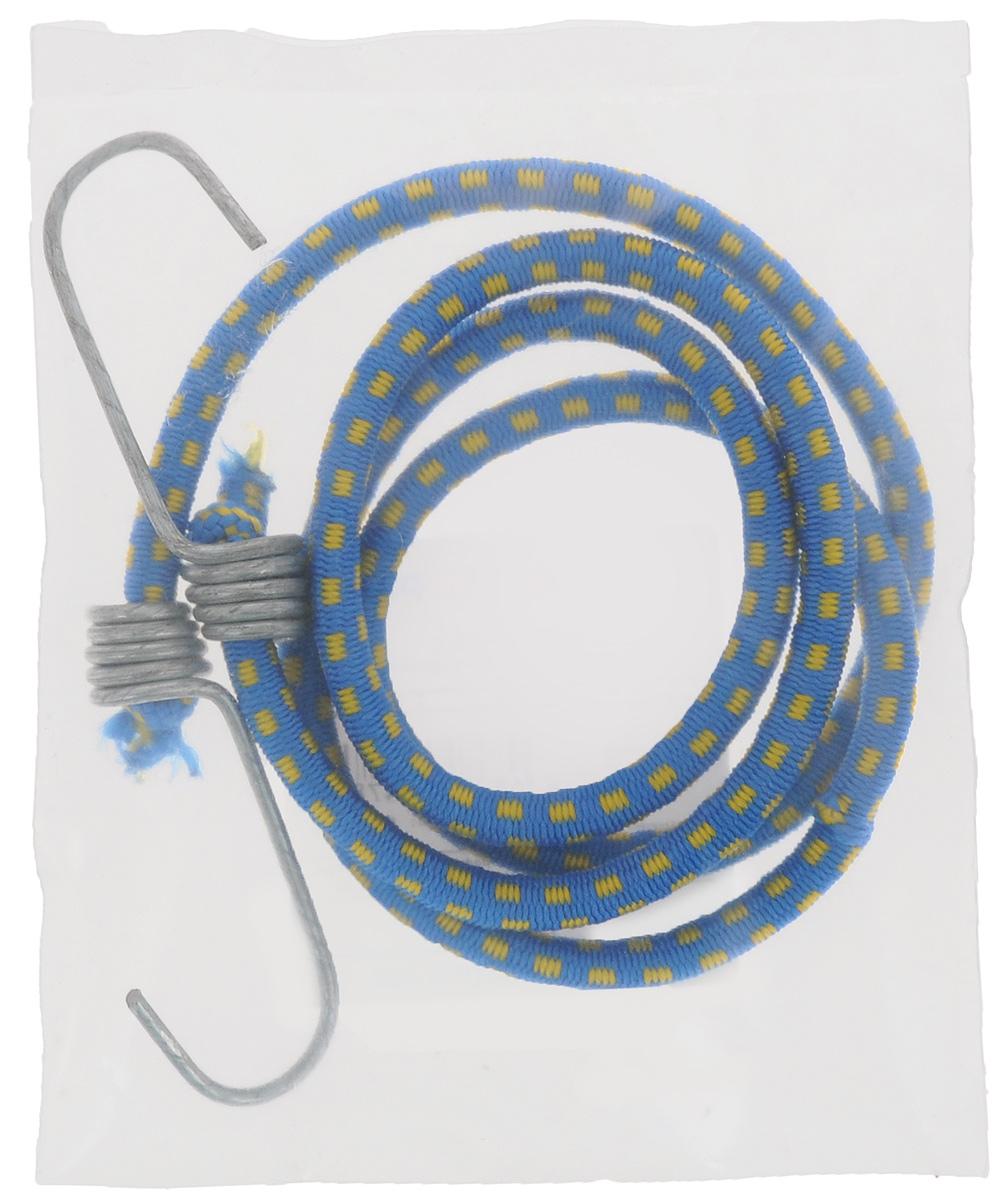Резинка багажная МастерПроф, с крючками, цвет: синий, желтый, 0,6 х 110 см.АС.020052_синий, желтый