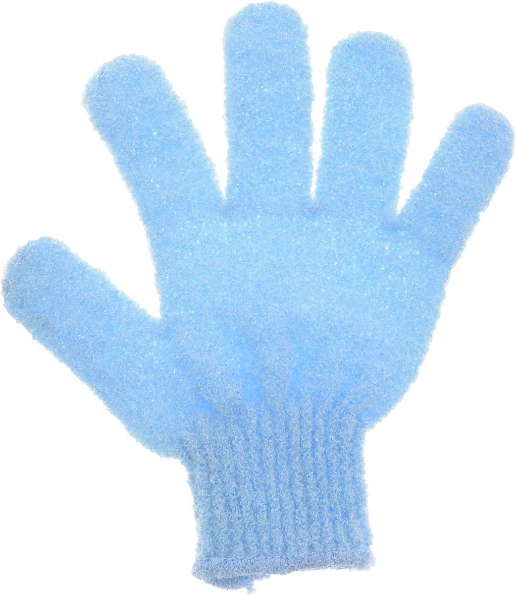 Мочалка-перчатка Банные штучки, цвет: голубой5955_зеленый, салатовыйМочалка-перчатка Банные штучки, цвет: голубой