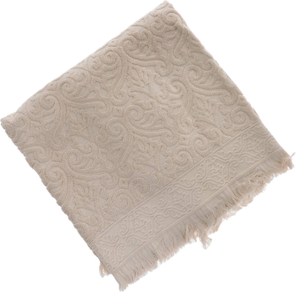Полотенце махровое Issimo Home Tarren, цвет: бежевый, 90 x 150 см4957Полотенце Issimo Home Tarren выполнено из 100% хлопка с махровым рельефным узором. Изделие отлично впитывает влагу, быстро сохнет и не теряет форму даже после многократных стирок. Рекомендации по уходу:- режим стирки при 40°C,- допускается обычная химчистка,- отбеливание запрещено,- глажка при температуре подошвы утюга до 110°С,- барабанный отжим запрещен.Размер полотенца: 90 х 150 см.