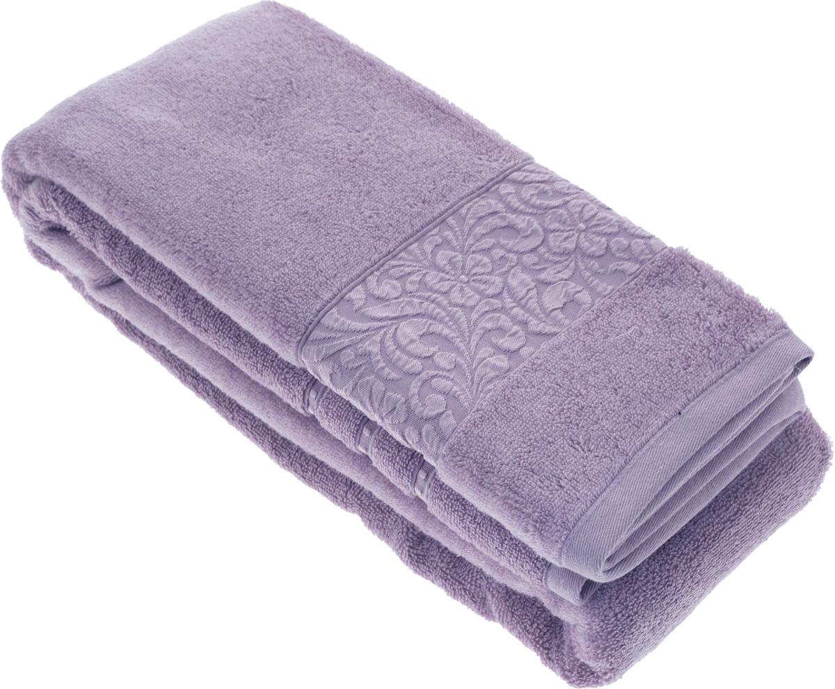 Полотенце бамбуковое Issimo Home Valencia, цвет: фиолетовый, 90 x 150 см4790Полотенце Issimo Home Valencia выполнено из 60% бамбукового волокна и 40% хлопка. Таким полотенцем не нужно вытираться - только коснитесь кожи - и ткань сама все впитает. Такая ткань впитывает в 3 раза лучше, чем хлопок.Несмотря на высокую плотность, полотенце быстро сохнет, остается легкими даже при намокании.Изделие имеет красивый жаккардовый бордюр, оформленный цветочным орнаментом. Благородный, классический тон создаст уют и подчеркнет лучшие качества махровой ткани, а сочный, яркий, летний оттенок создаст ощущение праздника и наполнит дом энергией. Красивая, стильная упаковка этого полотенца делает его уже готовым подарком к любому случаю.