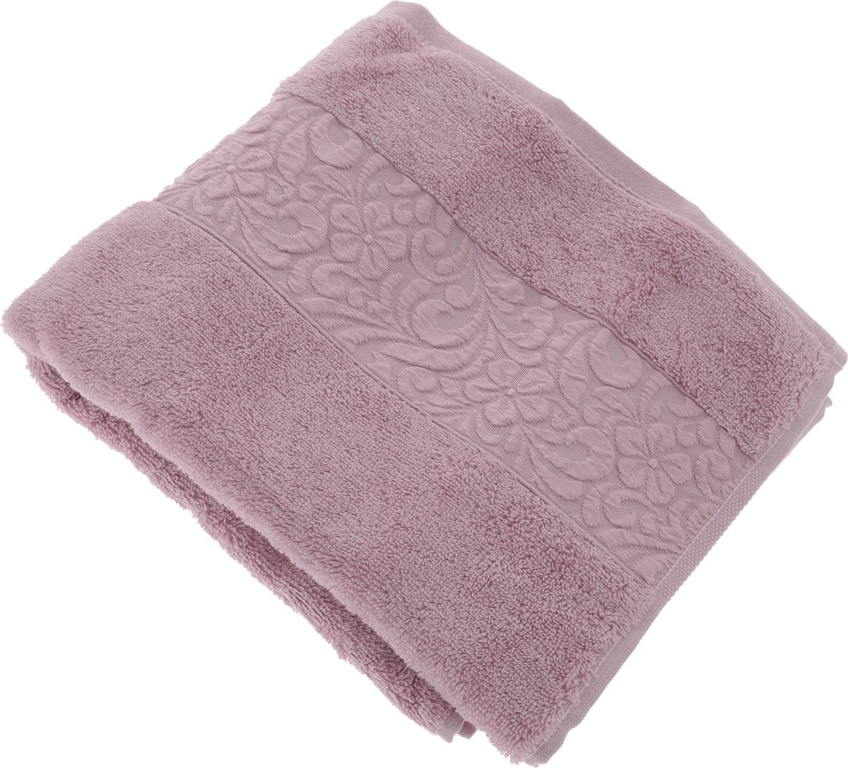 Полотенце бамбуковое Issimo Home Valencia, цвет: светло-пурпурный, 50 x 90 см4768Полотенце Issimo Home Valencia выполнено из 60% бамбукового волокна и 40% хлопка. Таким полотенцем не нужно вытираться - только коснитесь кожи - и ткань сама все впитает. Такая ткань впитывает в 3 раза лучше, чем хлопок.Несмотря на высокую плотность, полотенце быстро сохнет, остается легкими даже при намокании.Изделие имеет красивый жаккардовый бордюр, оформленный цветочным орнаментом. Благородные, классические тона создадут уют и подчеркнут лучшие качества махровой ткани, а сочные, яркие, летние оттенки создадут ощущение праздника и наполнят дом энергией. Красивая, стильная упаковка этого полотенца делает его уже готовым подарком к любому случаю.