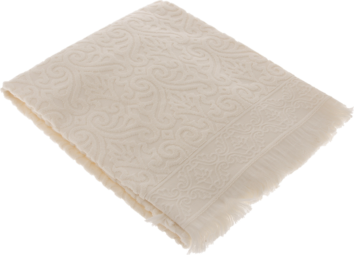 Полотенце махровое Issimo Home Tarren, цвет: бежевый, 50 x 90 см4955Полотенце Issimo Home Tarren выполнено из 100% хлопка с махровым рельефным узором. Изделие отлично впитывает влагу, быстро сохнет и не теряет форму даже после многократных стирок. Рекомендации по уходу:- режим стирки при 40°C,- допускается обычная химчистка,- отбеливание запрещено,- глажка при температуре подошвы утюга до 110°С,- барабанный отжим запрещен.Размер полотенца: 50 х 90 см.