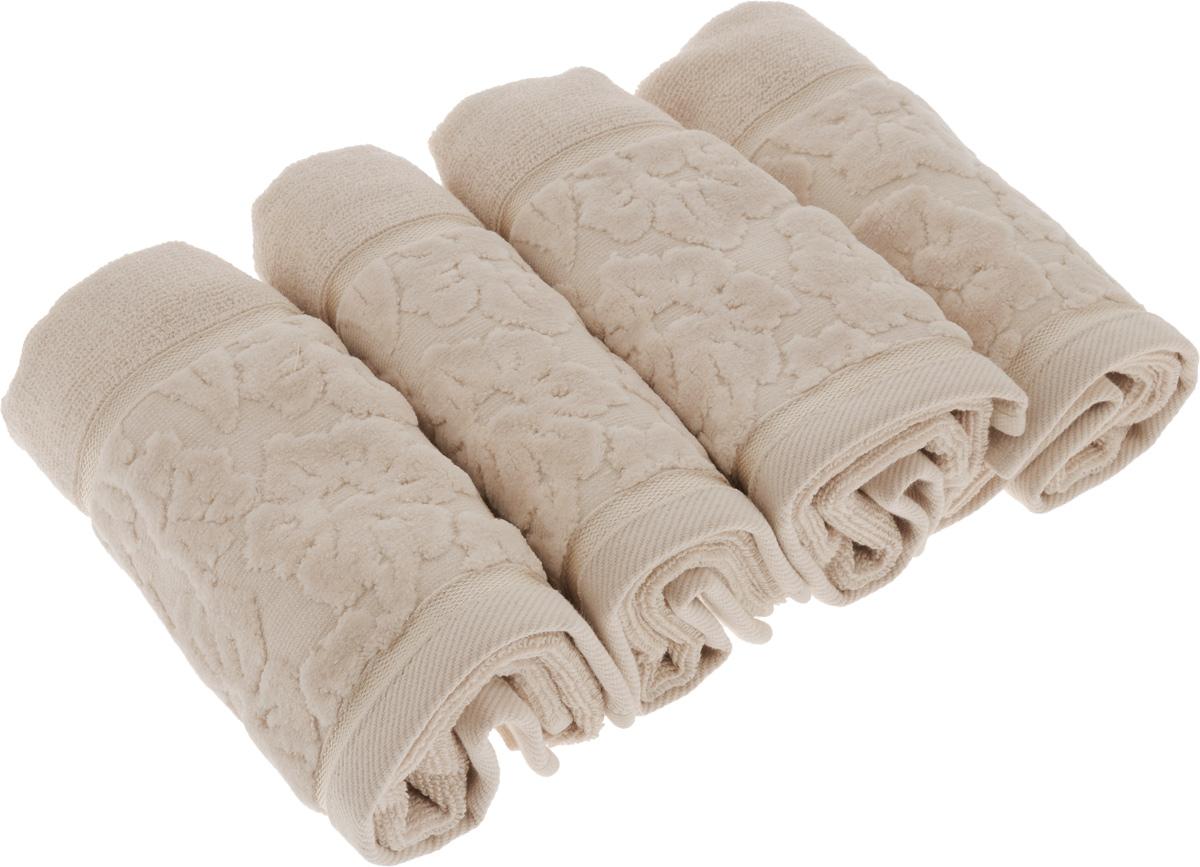 Набор махровых полотенец Issimo Home Jacquelyn, цвет: бежевый, 30 x 50 см, 4 шт4967Махровые полотенца Issimo Home Jacquelyn выполнены из 100% хлопка. Изделия отлично впитывают влагу, быстро сохнут, сохраняют яркость цвета и не теряют форму даже после многократных стирок. Полотенца очень практичны и неприхотливы в уходе. Они прекрасно дополнят интерьер ванной комнаты.