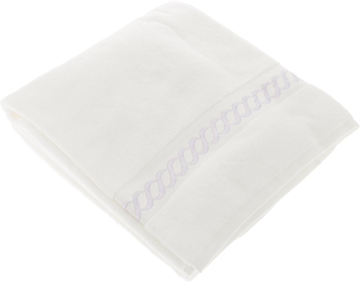 Полотенце махровое Issimo Home Pauline, цвет: белый, лиловый, 90 x 150 см4739Полотенце Issimo Home Pauline выполнено из натуральной махровой ткани (100% хлопок). Изделие отлично впитывает влагу, быстро сохнет и не теряет форму даже после многократных стирок. Рекомендации по уходу:- режим стирки при 40°C,- допускается обычная химчистка,- отбеливание запрещено,- глажка при температуре подошвы утюга до 110°С,- барабанный отжим запрещен.Размер полотенца: 90 x 150 см.