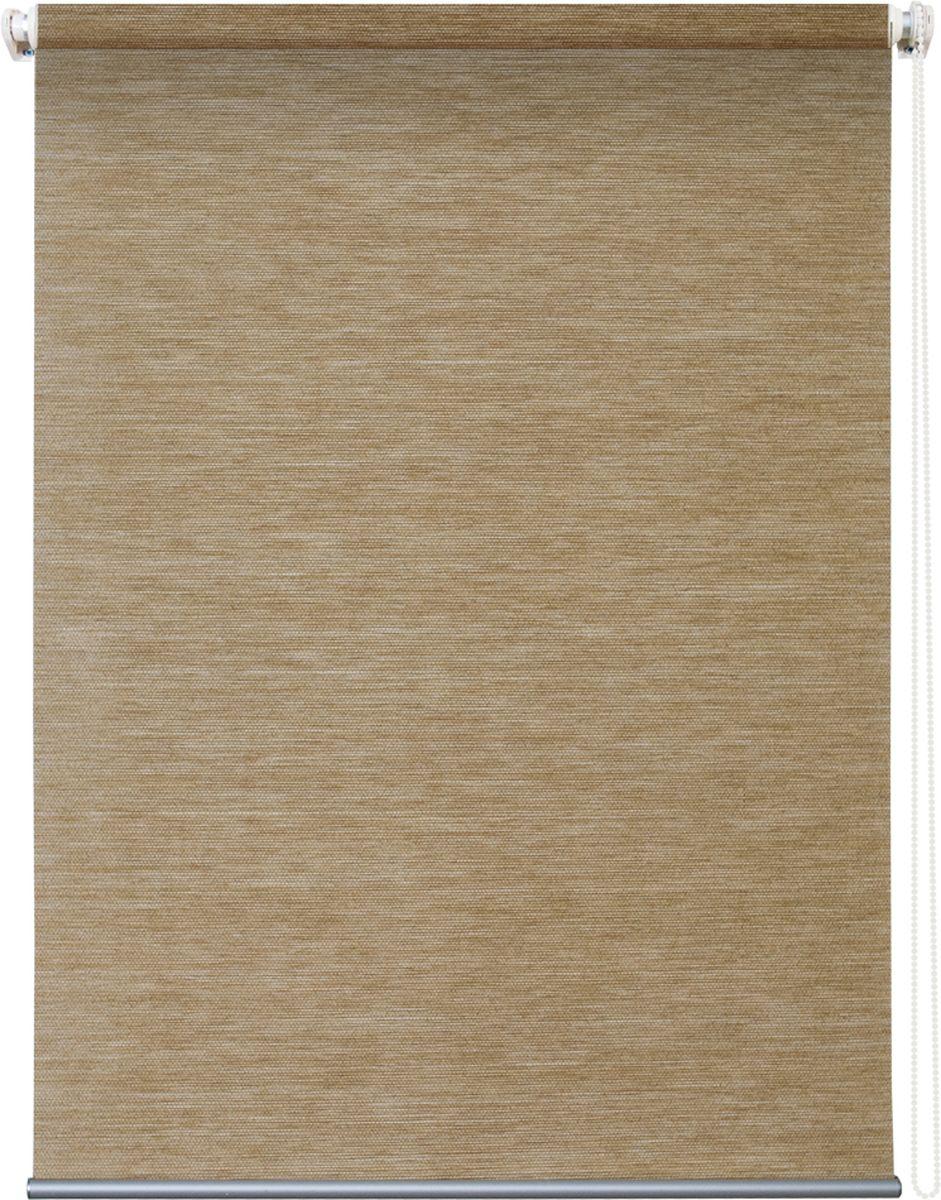 Штора рулонная Уют Концепт, цвет: песочный, 140 х 175 см62.РШТО.8807.140х175Штора рулонная Уют Концепт выполнена из прочного полиэстера с обработкой специальным составом, отталкивающим пыль. Ткань не выцветает, обладает отличной цветоустойчивостью и светонепроницаемостью.Штора закрывает не весь оконный проем, а непосредственно само стекло и может фиксироваться в любом положении. Она быстро убирается и надежно защищает от посторонних взглядов. Компактность помогает сэкономить пространство. Универсальная конструкция позволяет крепить штору на раму без сверления, также можно монтировать на стену, потолок, створки, в проем, ниши, на деревянные или пластиковые рамы. В комплект входят регулируемые установочные кронштейны и набор для боковой фиксации шторы. Возможна установка с управлением цепочкой как справа, так и слева. Изделие при желании можно самостоятельно уменьшить. Такая штора станет прекрасным элементом декора окна и гармонично впишется в интерьер любого помещения.