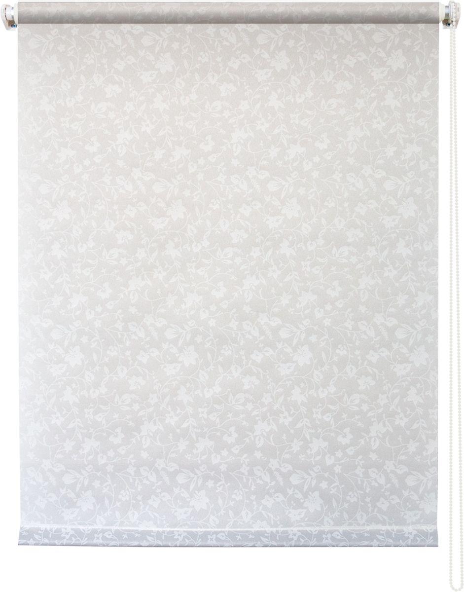 """Штора рулонная Уют """"Лето"""" выполнена из прочного полиэстера с обработкой специальным составом, отталкивающим пыль. Ткань не выцветает, обладает отличной цветоустойчивостью и светонепроницаемостью.  Штора закрывает не весь оконный проем, а непосредственно само стекло и может фиксироваться в любом положении. Она быстро убирается и надежно защищает от посторонних взглядов. Компактность помогает сэкономить пространство. Универсальная конструкция позволяет крепить штору на раму без сверления, также можно монтировать на стену, потолок, створки, в проем, ниши, на деревянные или пластиковые рамы. В комплект входят регулируемые установочные кронштейны и набор для боковой фиксации шторы. Возможна установка с управлением цепочкой как справа, так и слева. Изделие при желании можно самостоятельно уменьшить. Такая штора станет прекрасным элементом декора окна и гармонично впишется в интерьер любого помещения."""