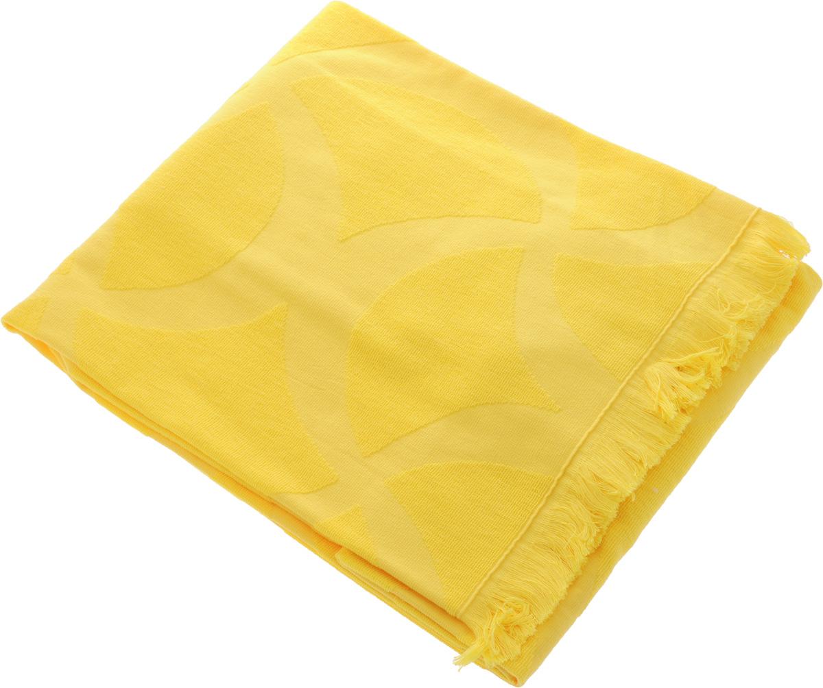 Полотенце Issimo Home Rondelle, цвет: желтый, 70 x 140 см5015Полотенце Issimo Home Rondelle выполнено из 100% хлопка. Изделие отлично впитывает влагу, быстро сохнет, сохраняет яркость цвета и не теряет форму даже после многократных стирок. Полотенце очень практично и неприхотливо в уходе. Оно прекрасно дополнит интерьер ванной комнаты.