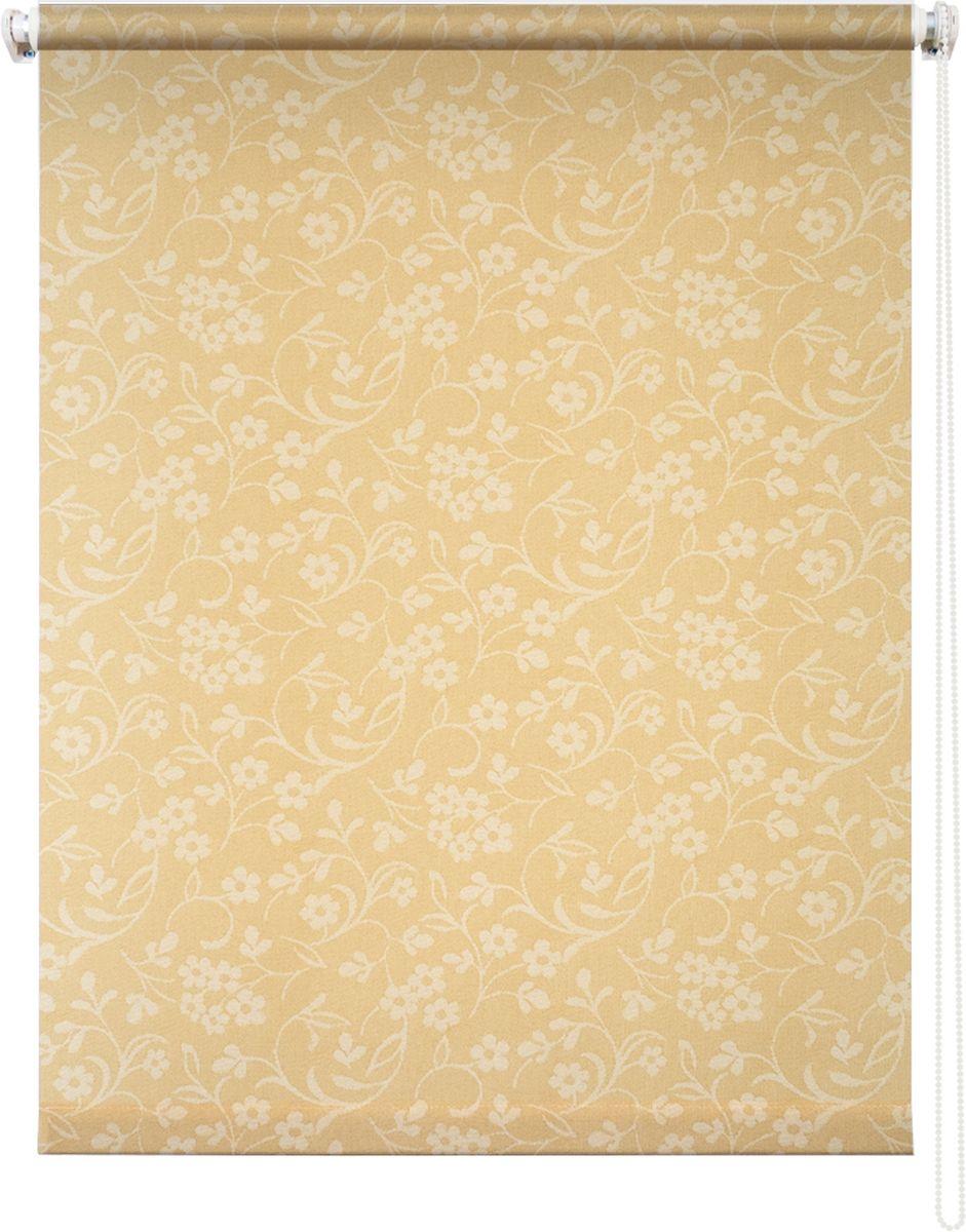 Штора рулонная Уют Моравия, цвет: желтый, 140 х 175 см62.РШТО.8907.140х175• Защита от посторонних взглядов.• Фиксация в любом положении.• Крепеж: Универсальный (к потолку, к раме, к стене).