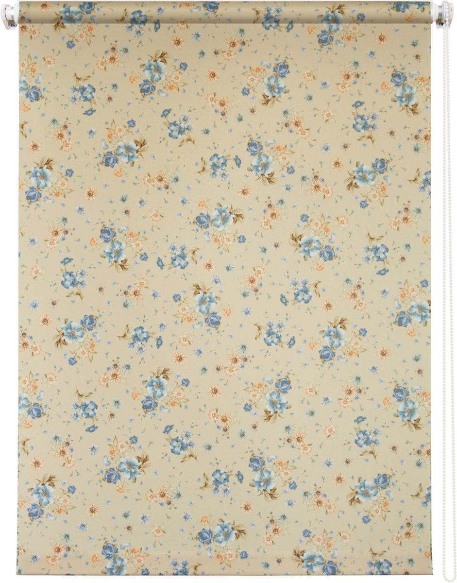 """Штора рулонная Уют """"Прованс"""", цвет: желтый, голубой, оранжевый, 100 х 175 см"""