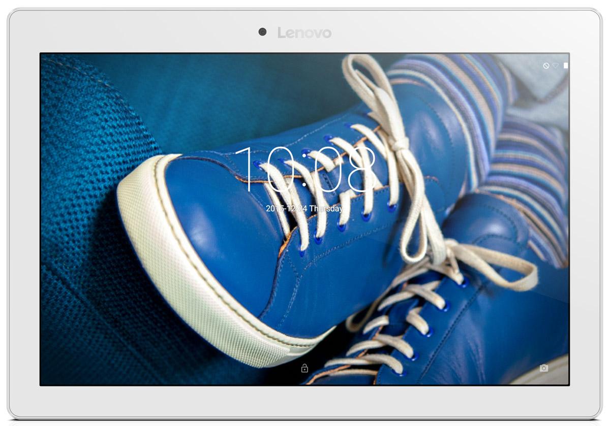 Lenovo Tab 2 A10-30, White (ZA0D0053RU)ZA0D0053RULenovo Tab 2 A10-30 - 10,1-дюймовый планшет, созданный для развлечений.Яркое, четкое изображение:10-дюймовый HD-дисплей высокого разрешения (1280 х 800) обеспечивает потрясающее качество видео, фотографий и игр.Продолжительное время автономной работы:Аккумулятор TAB 2 A10-30 обеспечивает до 10 часов непрерывной работы. Вы можете работать с планшетом весь день без подзарядки.Тонкий и легкий корпус:Ультратонкий корпус (менее 9 мм) придает планшету TAB 2 A10-30 непревзойденную портативность.Два динамика:Двойные динамики обеспечивают высокое качество звучания. Планшет TAB 2 A10-30 превосходно подходит для прослушивания музыки и просмотра видео.Вместительный накопитель:Встроенный накопитель емкостью 16 ГБ обеспечит достаточно места для хранения ваших медиафайлов.Передняя и задняя камера::Благодаря пятимегапиксельной задней камере и двухмегапиксельной фронтальной камере вы сможете насладиться отличным качеством изображения, общаясь в видеочатах с семьей и друзьями.Планшет сертифицирован EAC и имеет русифицированный интерфейс, меню и Руководство пользователя.