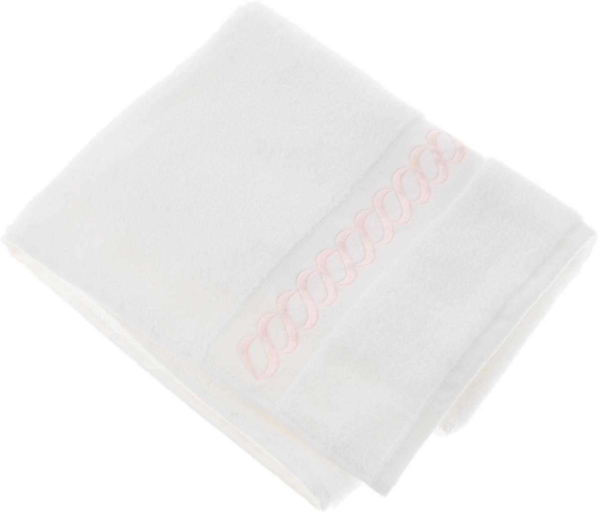 Полотенце махровое Issimo Home Pauline, цвет: белый, розовый, 90 x 150 см4726Полотенце Issimo Home Pauline выполнено из натуральной махровой ткани (100% хлопок). Изделие отлично впитывает влагу, быстро сохнет и не теряет форму даже после многократных стирок. Рекомендации по уходу:- режим стирки при 40°C,- допускается обычная химчистка,- отбеливание запрещено,- глажка при температуре подошвы утюга до 110°С,- барабанный отжим запрещен.Размер полотенца: 90 x 150 см.