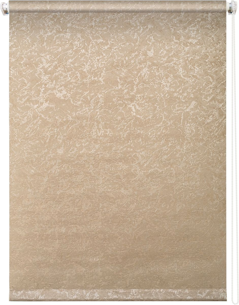 Штора рулонная Уют Фрост, цвет: латте, 140 х 175 см62.РШТО.7659.140х175Штора рулонная Уют Фрост выполнена из прочного полиэстера с обработкой специальным составом, отталкивающим пыль. Ткань не выцветает, обладает отличной цветоустойчивостью и светонепроницаемостью.Штора закрывает не весь оконный проем, а непосредственно само стекло и может фиксироваться в любом положении. Она быстро убирается и надежно защищает от посторонних взглядов. Компактность помогает сэкономить пространство. Универсальная конструкция позволяет крепить штору на раму без сверления, также можно монтировать на стену, потолок, створки, в проем, ниши, на деревянные или пластиковые рамы. В комплект входят регулируемые установочные кронштейны и набор для боковой фиксации шторы. Возможна установка с управлением цепочкой как справа, так и слева. Изделие при желании можно самостоятельно уменьшить. Такая штора станет прекрасным элементом декора окна и гармонично впишется в интерьер любого помещения.
