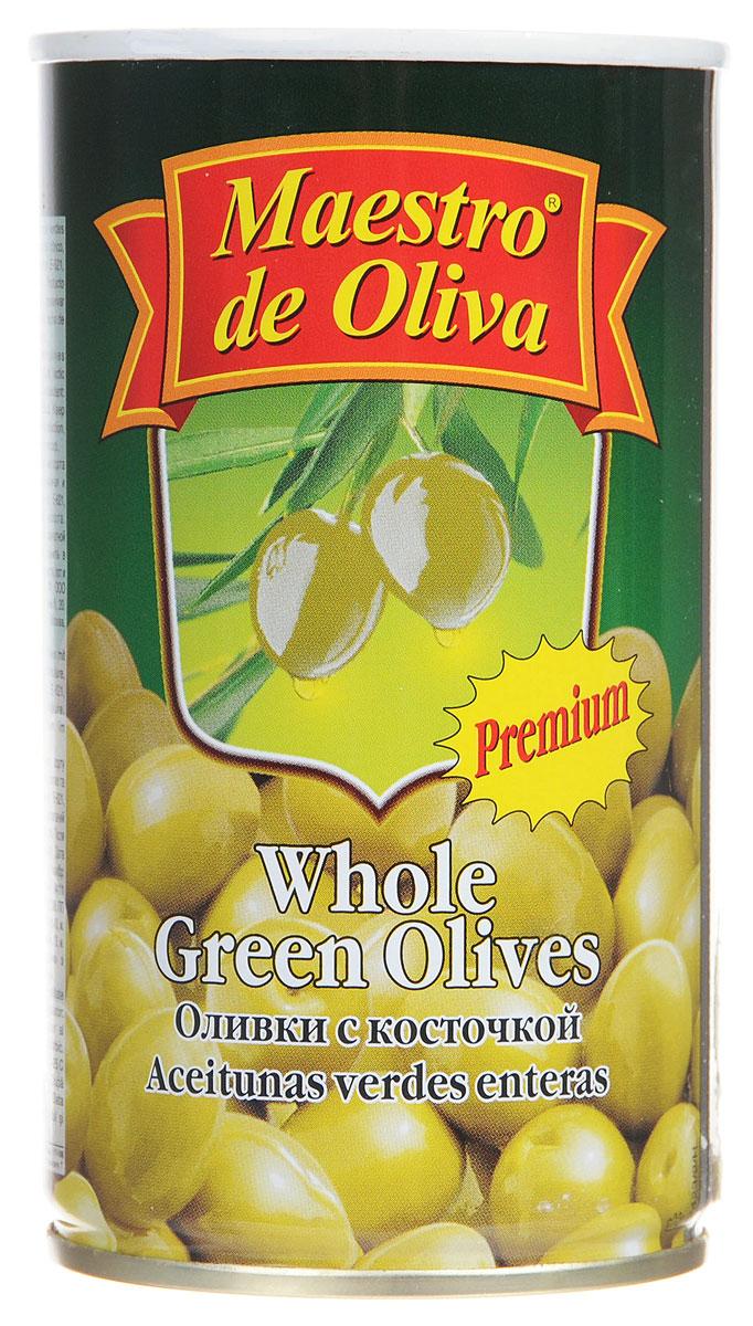 Maestro de Oliva оливки крупные с косточкой, 350 г maestro de oliva оливки с беконом 300 г
