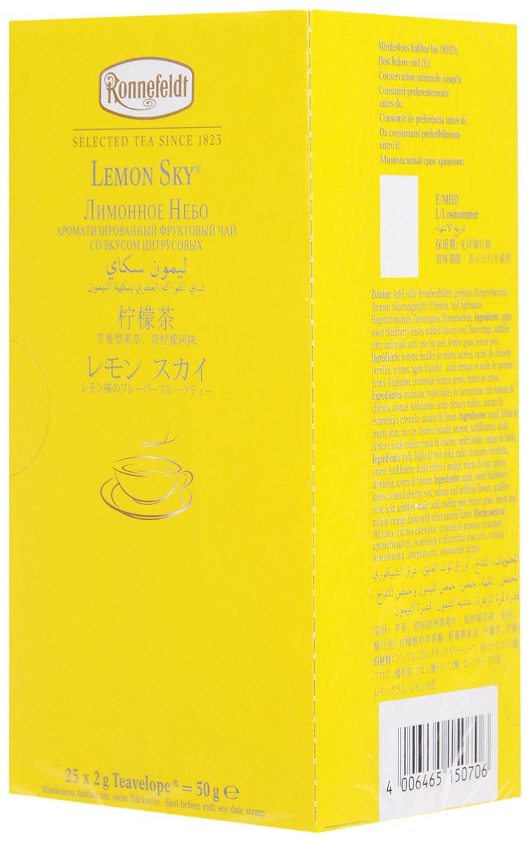 Ronnefeldt Лимонное небо фруктовый чай в пакетиках, 25 шт гринфилд чай фруктовый