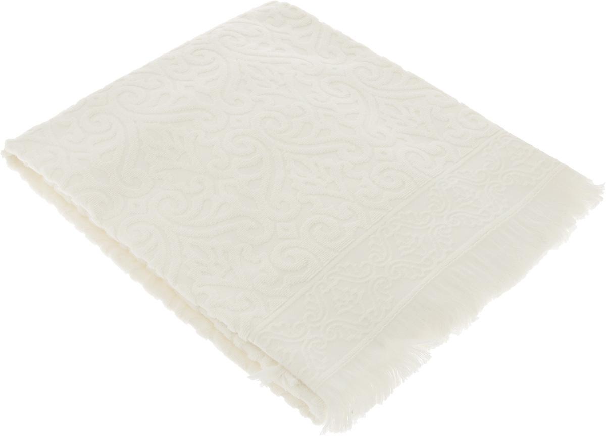 Полотенце махровое Issimo Home Tarren, цвет: экрю, 70 x 140 см4964Полотенце Issimo Home Tarren выполнено из 100% хлопка с махровым рельефным узором. Изделие отлично впитывает влагу, быстро сохнет и не теряет форму даже после многократных стирок. Рекомендации по уходу:- режим стирки при 40°C,- допускается обычная химчистка,- отбеливание запрещено,- глажка при температуре подошвы утюга до 110°С,- барабанный отжим запрещен.Размер полотенца: 70 x 140 см.