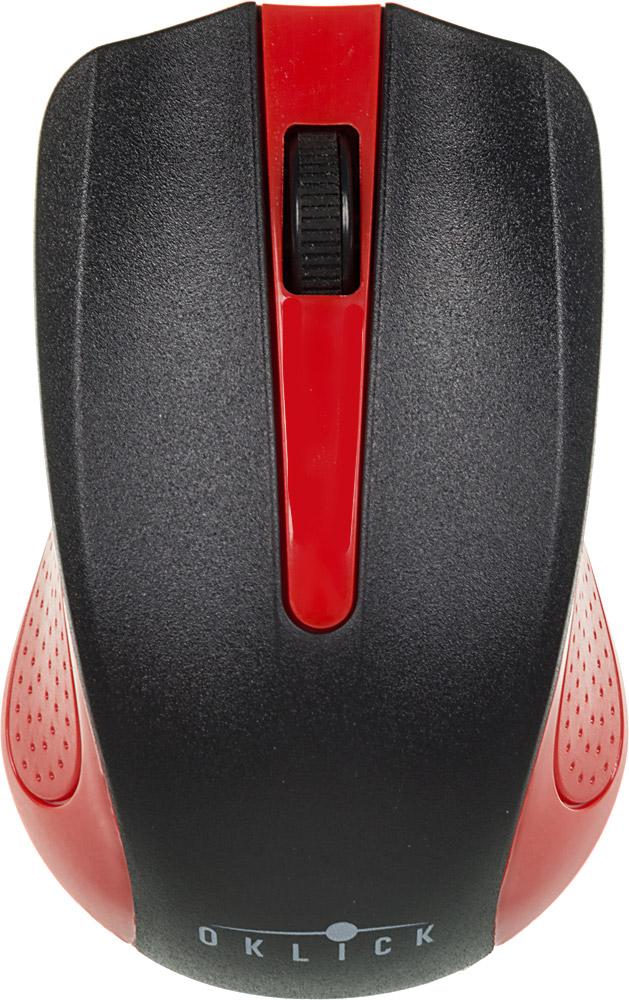 Oklick 485MW, Black Red мышьMO-353Беспроводная мышь Oklick 455MW подходит для работы с ноутбуком и настольным ПК. Устройство выполнено в эргономичном дизайне и имеет симметричную форму, благодаря чему подходит для управления любой рукой. Оптический сенсор с высоким разрешением позволяет использовать устройство в различных графических приложениях и текстовых редакторах. Данная модель имеет специальный отсек для хранения USB-ресивера, что очень удобно при перевозке мыши.