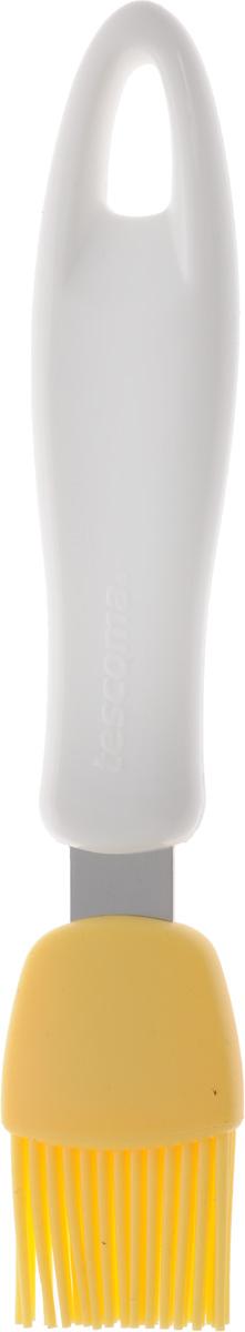 """Кондитерская кисть Tescoma """"Presto"""" станет вашим незаменимым помощником  на кухне. Рабочая часть кисточки выполнена из силикона, ручка изготовлена из пластика.  Силикон абсолютно безвреден для здоровья, не впитывает запахи, не оставляет пятен, легко моется. Изделие  оснащено петелькой для подвешивания. Кисть Tescoma """"Presto"""" -  практичный и необходимый подарок любой хозяйке.Можно мыть в посудомоечной машине. Длина кисти: 18 см. Размер рабочей части: 2,5 х 3 см."""