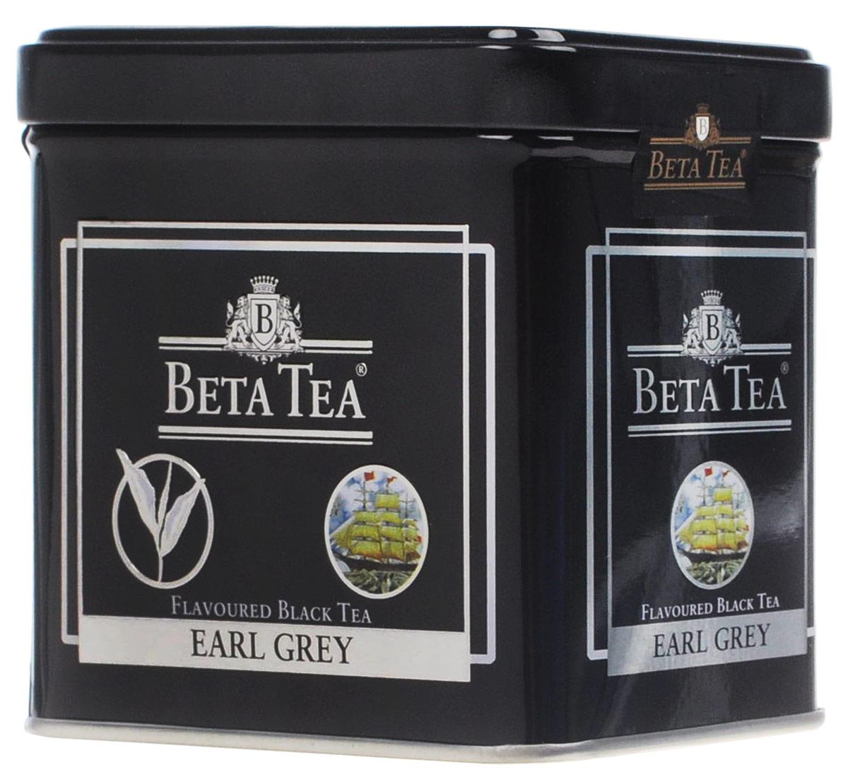 Beta Tea Earl Grey черный листовой чай, 100 г (жестяная банка) beta tea елка черный листовой чай 200 г