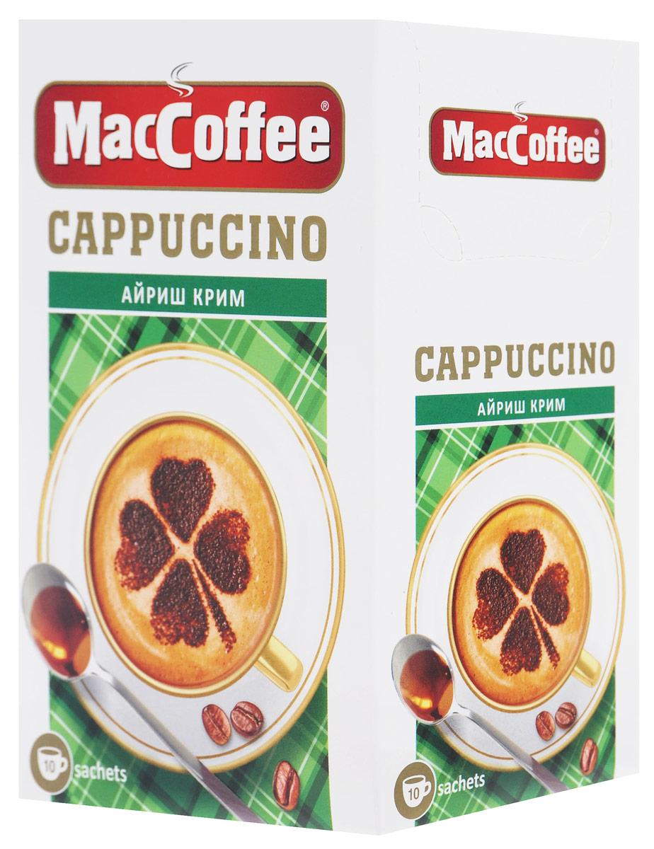 MacCoffee Cappuccino Айриш Крим кофейный напиток, 10 шт8887290151429Есть вещи, которые идеально подходят друг другу, например, кофе и пенка. Отличное сочетание такого рода – MacCoffee Cappuccino Айриш Крим, в который добавлено несколько капель ароматного ликера. Микс высококачественных зерен арабики с настоящим ирландским вкусом Айриш Крим, но без алкоголя - это и есть MacCoffee Cappuccino Айриш Крим.