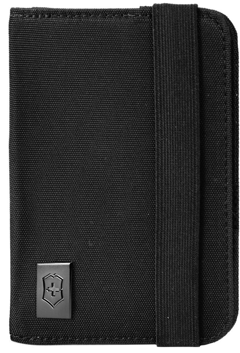 Обложка для паспорта Victorinox, цвет: черный. 3117220131172201Оригинальный швейцарский армейский нож «Swiss Army» был создан в 1897 году в небольшой деревушке Ибах в Швейцарии.С тех пор продукция,выпускаемая под маркой «Victorinox» с ее узнаваемым логотипом в виде креста на щите,по праву считается эталоном отличного качества,высокой функциональности,инновационных технологий и культового дизайна.Наша преданность принципам в течение последних 130 лет позволила нам создавать продукты,которые являются выдающимися не только по дизайну и качеству,но которые также являются надежными спутниками в больших и маленьких жизненных приключениях.Сегодня мы с гордостью представляем линейку сумок,чемоданов и дорожных аксессуаров,которые наилучшим образом воплощают в себе данные принципы,а также сочетают в себе черты нашего лучшего классического стиля.Коллекция Lifestyle Accessories 4.0 включает в себя широкий ассортимент решений для путешествий и повседневной жизни.Независимо от пункта назначения данные высоко-практичные аксессуары станут важнейшей составляющей поездки.Использую широку гамму наших повседневных сумок,вы можете простопередвигаться по городу либо ездить на экскурсии.Путешествуйте хорошопо дготовленнными,храня ваш паспорт,бтлеты и документы в удобно расположенном держателе для документов,оснащенном RFID защитой для безопасности вашей персональной информации.Путешествуйте хорошо организованными и максимально используйте ваше пространство для хранения благодаря нашим удобным сумкам и несессерам.Позвольте коллекции Lifestyle Accessories 4.0 сделать каждый миг вашего путешествия легче.Прототип модели прошел целых 30 основательных и строгих испытаний,в ходе которых проводилась симуляция самых экстремальных сценариев и условий внешней среды,возможных в реальной жизни.Жесткий режим проводимых тестов гарантирует точность,прочность и износоустойчивость,т.е. все признаки высокого качества и эксплуатационных характеристик,которые покупатель ожидает от продукции «Victorinox».Далее