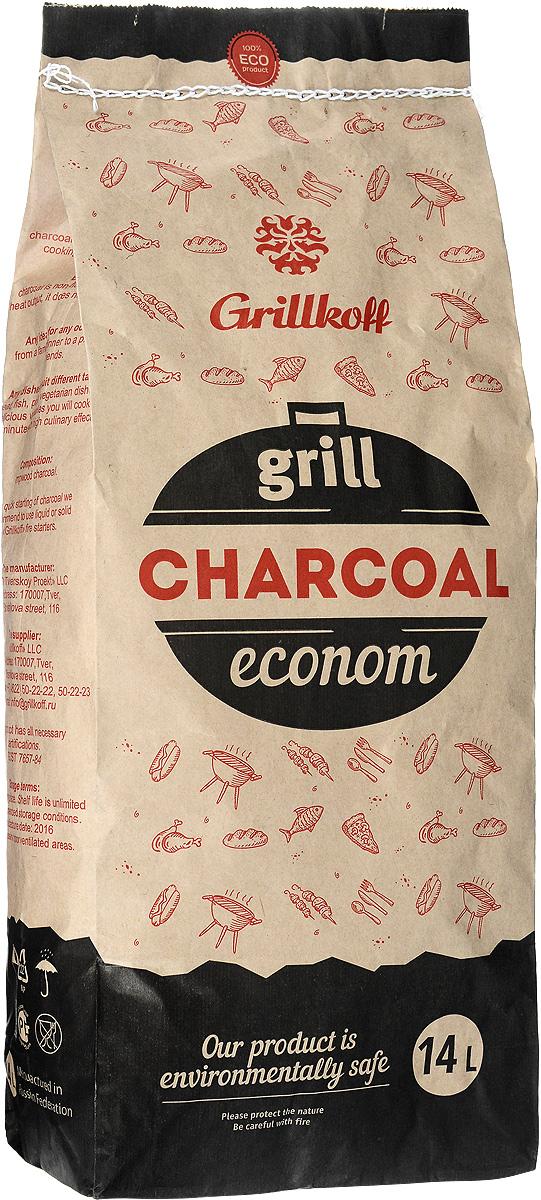 Уголь березовый Грилькофф Эконом, для гриля, 14 л киркач осипова л д блюда быстрого приготовления