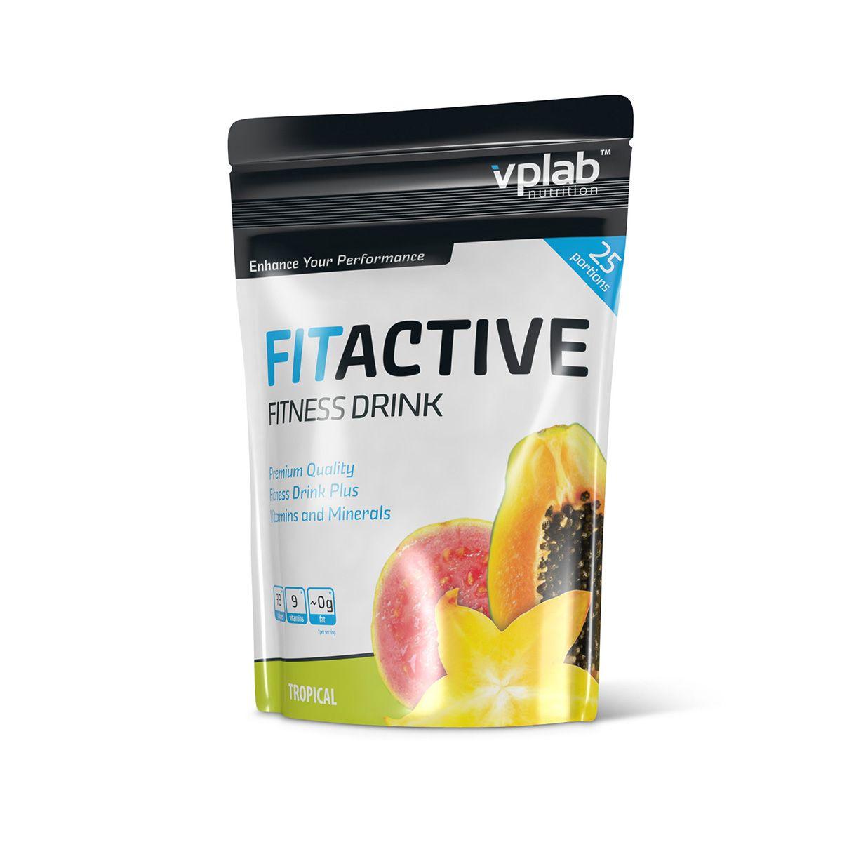 "Изотоник Vplab ""Fitactive Fitness Drink"", тропик, 500 г, VP Laboratory"