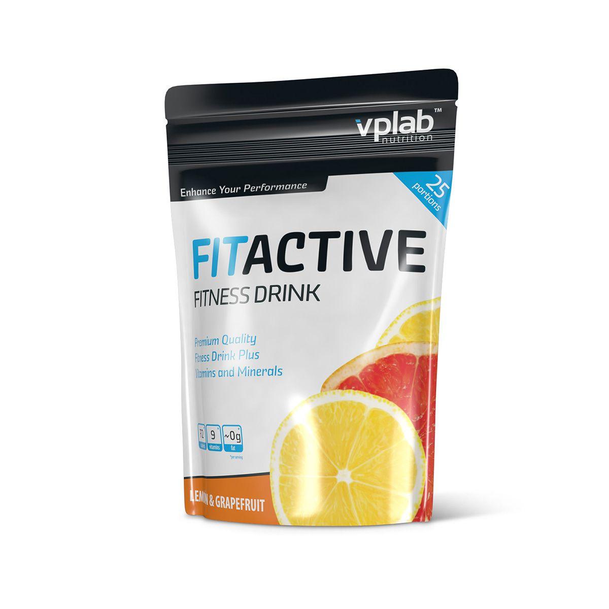Изотоник Vplab Fitactive Fitness Drink, лимон-грейпфрут, 500 гV0713Порошок для приготовления специально разработанного напитка с витаминами и минеральными веществами, который оптимально снабжает организм влагой и заряжает энергией для максимальных результатов. Восстанавливает углеводный баланс и восполняет потери питательных веществ во время длительных интенсивных нагрузок.Питательная ценность на 100 г: энергетическая ценность - 358.0 ккал (1,525.0 кдж), белки - 0.3 г, углеводы - 74.6 г, из которых сахара - 65.5 г, жиры - 0.2 г, из них насыщенные жирные кислоты - 0.1 г, пищевые волокна - 0.1 г, натрий - 0.400 г, витамин Е - 18.0 мг, витамин С - 120.0 мг, витамин В1 - 1.65 мг, витамин В2 - 2.80 мг, ниацин - 24.0 мг, витамин В6 - 2.10 мг, фолиевая кислота - 300.0 мкг, витамин В12 - 3.7 мкг, пантотеновая кислота - 9.0 мг, кальций - 600.0 мг, фосфор - 525.0 мг, магний - 280.0 мг. Рекомендации по применению: 1 порция во время или после тренировки для восстановления солевого и углеводного баланса.Товар сертифицирован. Как повысить эффективность тренировок с помощью спортивного питания? Статья OZON Гид