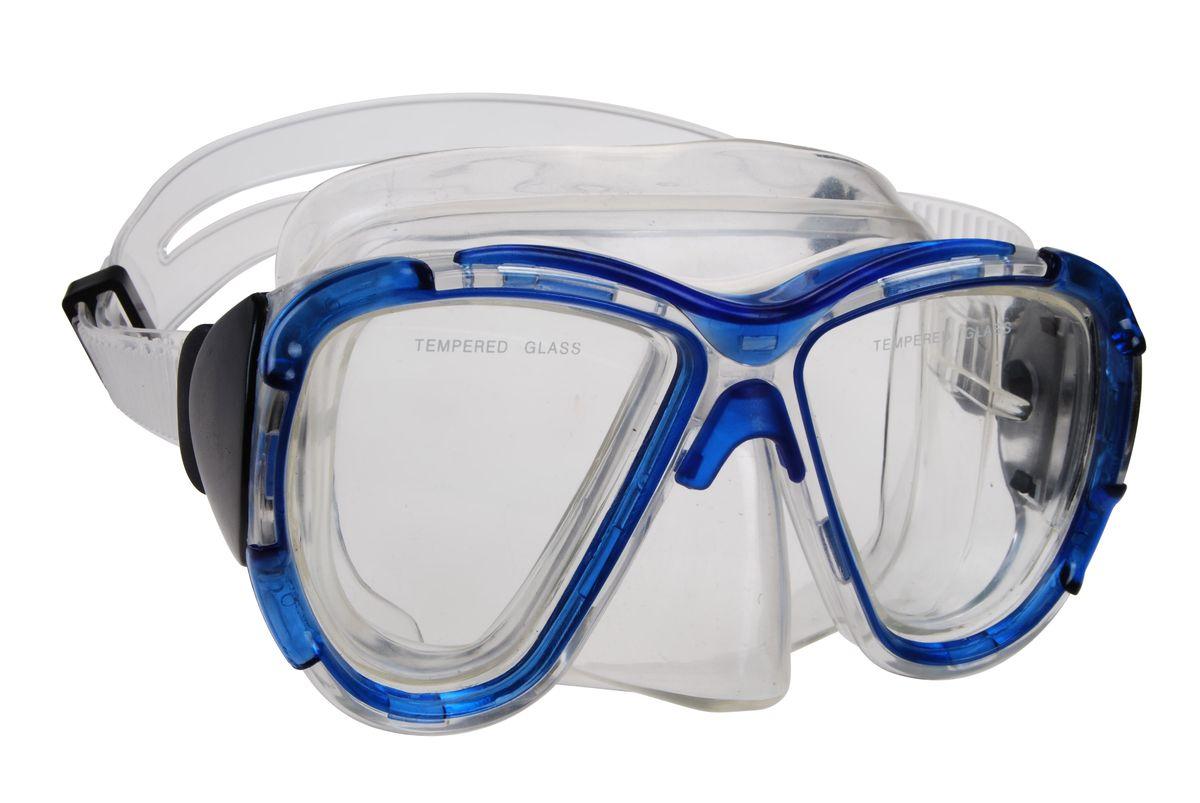 Маска для плавания WAVE, цвет: синий. M-1311M-1311Маска для плавания WAVE имеет низкопрофильный дизайн и широкий угол обзора практически на 180 градусов (увеличение периферического зрения)Линзы из закаленного стеклаДвухслойный обтюратор маски из гипоалергенного мягкого пластика, препятствует проникновению воды внутрь маскиРегулируемый пластиковый ремешок, препятствует скольжениюМатериал: пластик (PVC) Ширина оправы маски: 14,6 x 8 x 8,6 см