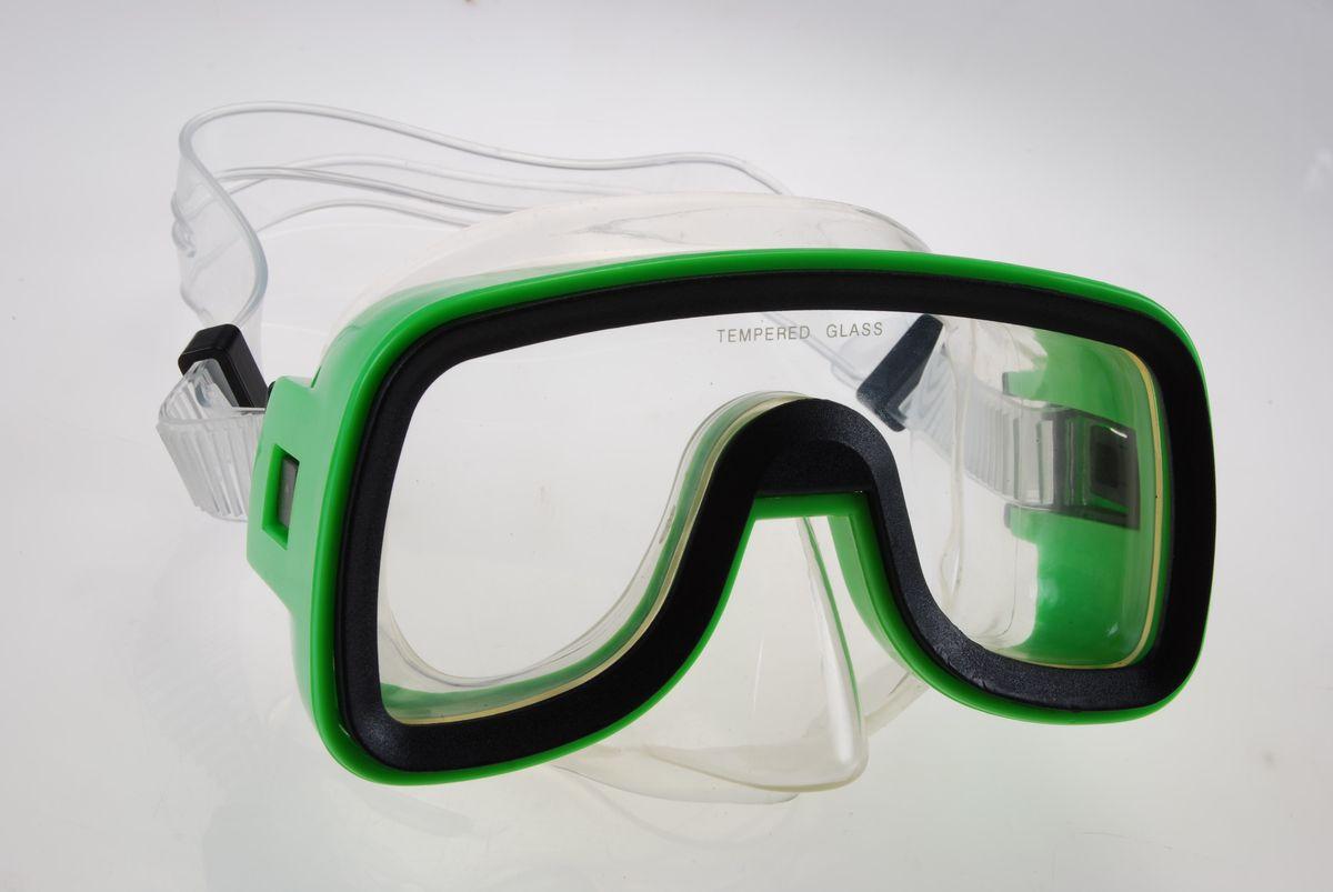 Маска для плавания WAVE, цвет: черный, зеленый. M-1319M-1319Маска для плавания WAVE имеет низкопрофильный дизайн и широкий угол обзора практически на 180 градусов (увеличение периферического зрения)Линзы из закаленного стеклаДвухслойный обтюратор маски из гипоалергенного мягкого пластика, препятствует проникновению воды внутрь маскиРегулируемый пластиковый ремешок, препятствует скольжениюМатериал: пластик (PVC) Ширина оправы маски: 15 x 8,5 x 9,5 см