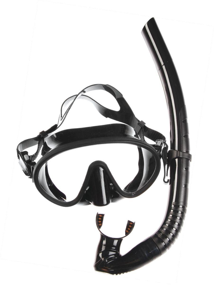 Комплект для плавания WAVE: маска, трубка, цвет: черный. MS-1328S66MS-1328S66Комплект для плавания WAVE- профессиональная серия масок и трубок. В комплект для плавания входят: маска и трубка.Маска: плоский дизайн и широкий угол обзора практически на 180 градусов (увеличение периферического зрения). Монолинза из закаленного стекла. Обтюратор маски из гипоалергенного силикона, препятствует проникновению воды внутрь маски. Если вода попала под маску, то все что необходимо сделать для удаления воды - это выдох носом. При этом автоматически уравнивается давление под маской с давлением окружающей среды. Регулируемый силиконовый ремешок, препятствует скольжению.Трубка: специальная конструкция трубки предохраняет от попадания воды при погружении под воду. Мягкий эластичный силиконовый загубник, свободно меняющий положение. Силиконовый клапан для продувки трубки от воды Вес: 420 грРазмер маски: 16,2 x 7 x 10,8 см Длина трубки: 36,5 см