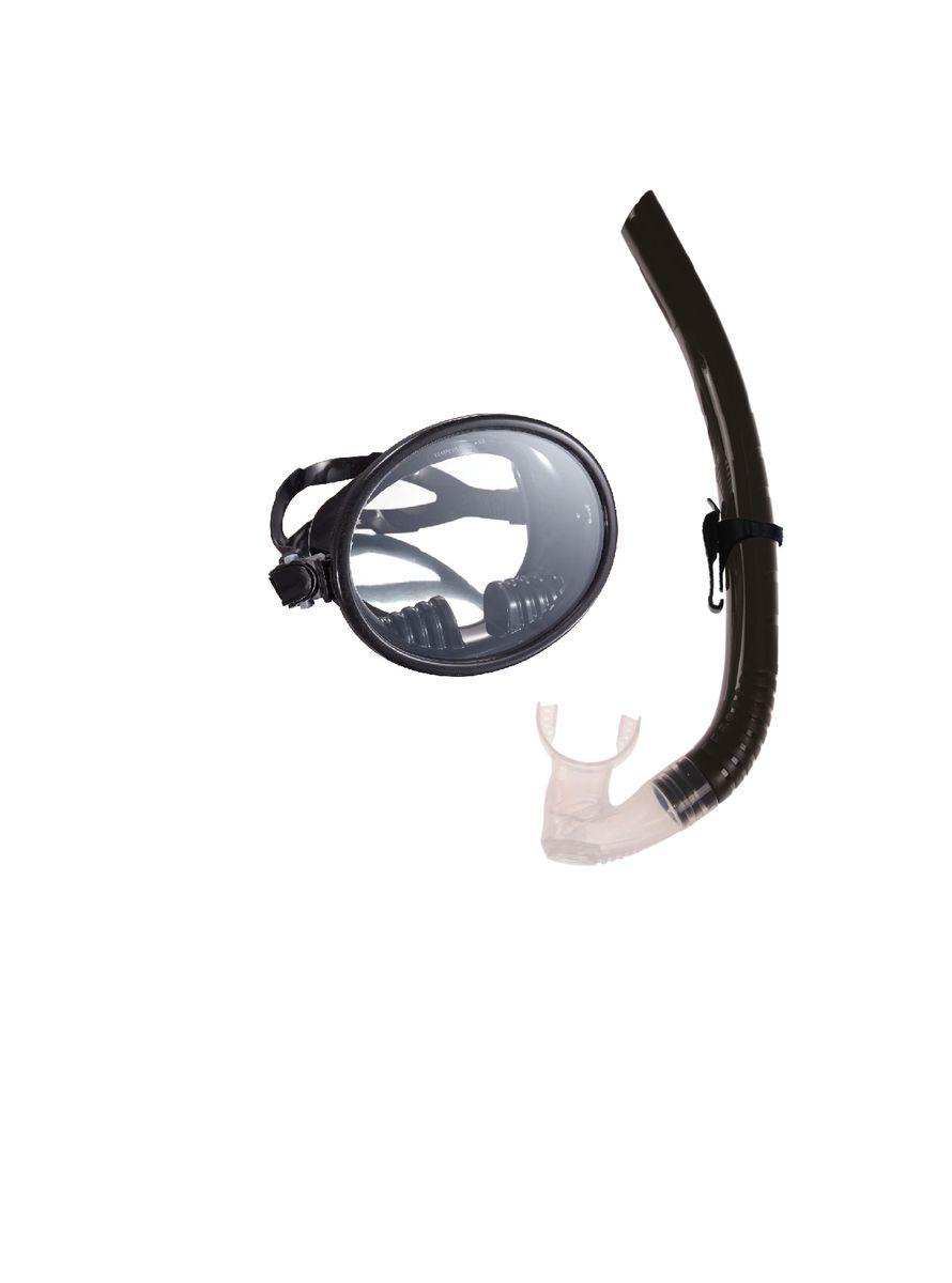Комплект для плавания WAVE: маска, трубка, цвет: черный. MS-1332S66 очки маски и трубки для плавания intex маска авиатор для плавания 55911